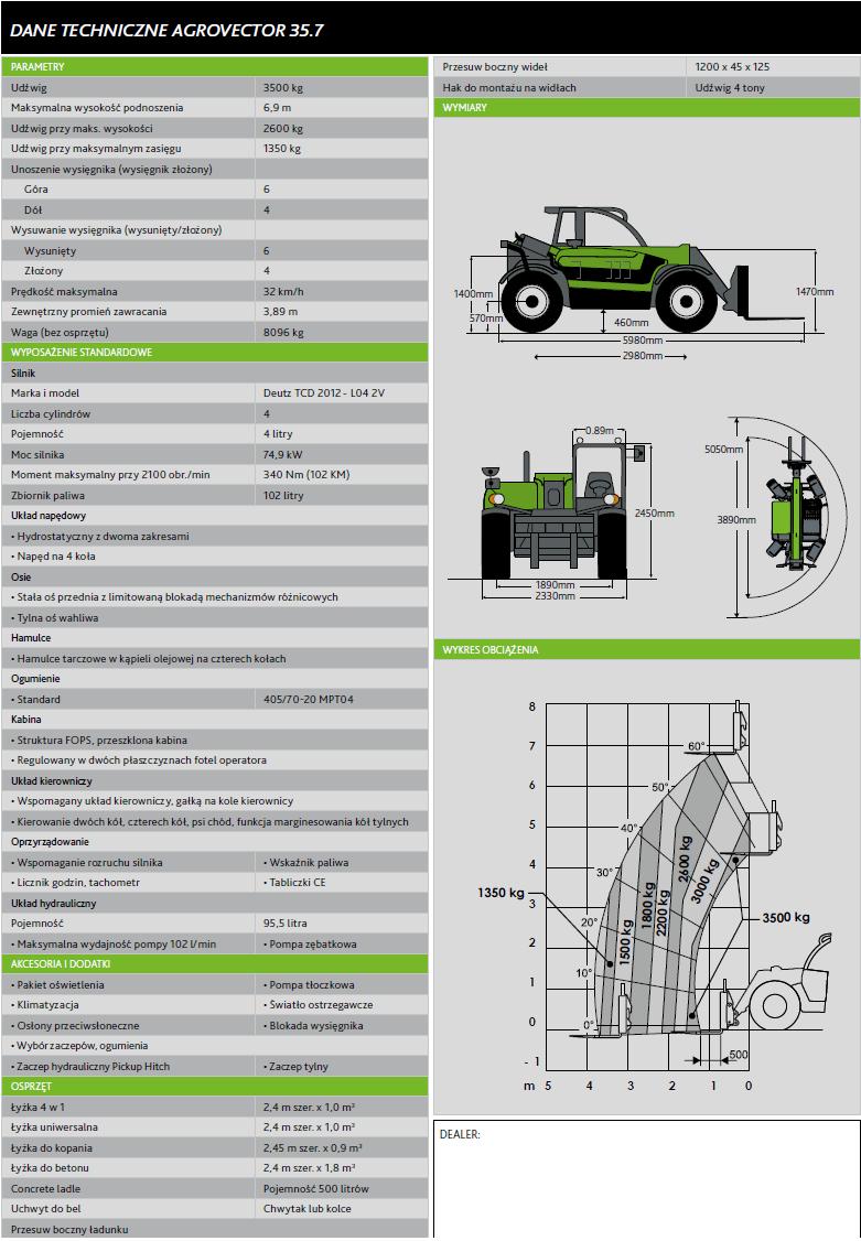 Agrovector 296-357_ladowarka_teleskopowa_specyfikacja